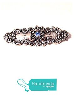 Art Nouveau Vintage style Silver Rhinestone Brooch from NatureAngels - Handmade, Upcycled and Vintage https://www.amazon.com/dp/B0167L80BG/ref=hnd_sw_r_pi_dp_LXigwb5FBSVFV #handmadeatamazon