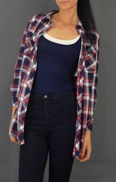 Γυναικείο πουκάμισο καρό POUK-1645-bl Plaid, Women's Fashion, Shirts, Tops, Gingham, Fashion Women, Womens Fashion, Woman Fashion, Tartan