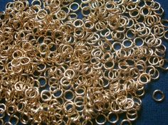 Jump rings open 4mm gold plated 20 ga round wire 500 pcs jewelry charms FPJ028 #Silversmithsupply #Openjumprings