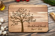 Tree Cutting Board Cutting Board Custom Cutting от shesterwood