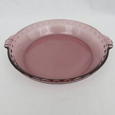 9 1/2 Cranberry Pyrex Pie Plate  Model 229 Deep Dish  #ebayROCteam