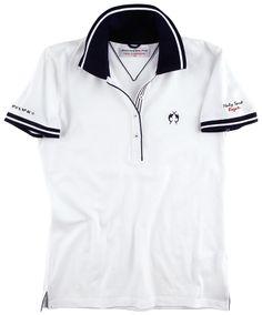 Das weiße #Poloshirt von LISA #CAMPIONE ist ein echtes Unikat.