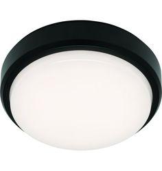 Rory LED Round Exterior Bunker Light, Black