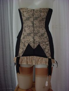 "RARE Vintage 50s Christian Dior Lace Girdle Corset Garters 28"" S | eBay"