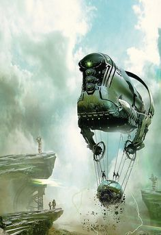 Fantasy worlds Stephan Martiniere Claude Monet, Books Art, Illustrator, Steampunk, Science Fiction Art, To Infinity And Beyond, Gothic Architecture, Sci Fi Fantasy, Dark Fantasy
