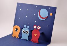 """holy crap - cute """"owl""""iens! (Stampin Up punch)"""