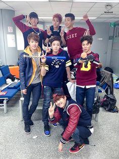 BTS at Inkigayo, backstage