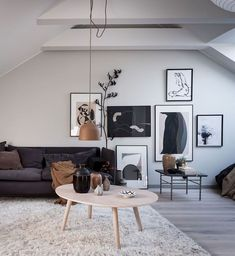 Find out why modern living room design is the way to go! A living room design to make any living room decor ideas be the brightest of them all. Attic Apartment, Attic Rooms, Studio Apartment, Stockholm Apartment, Home Decor Bedroom, Diy Home Decor, Kids Bedroom, Bedroom Ideas, Master Bedroom