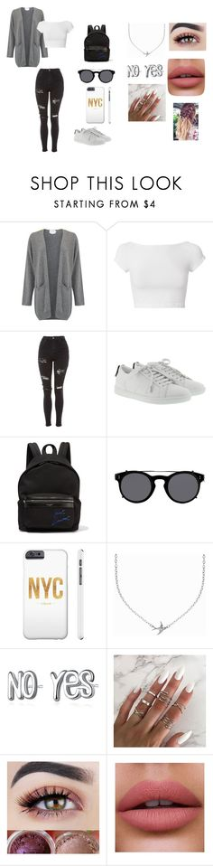 """#38"" by susan-michelle-tavares on Polyvore featuring moda, Helmut Lang, Topshop, Yves Saint Laurent, Valentino y Minnie Grace"