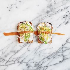 Toast is not just for jam and jelly. Slice a few of your favorite veggies, layer…