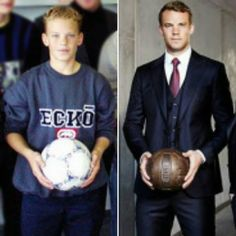 """Before and after. Antes e depois. . #ManuelNeuer #Neuer"""