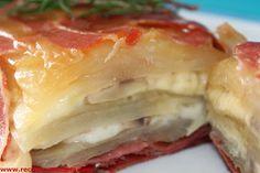 Mis Recetas: Pastel de patata y jamón.