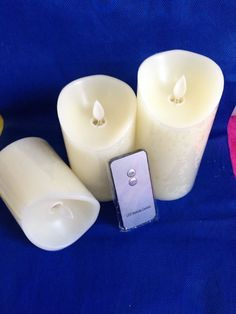 moving wick led candle with scent