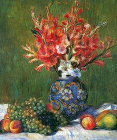 Pierre-Auguste Renoir | Pierre Auguste Renoir Paintings - Pierre Auguste Renoir Flowers and ...