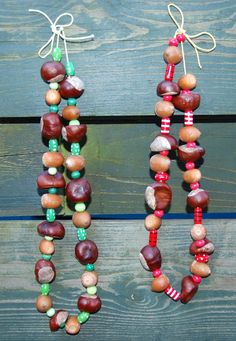 Herfstketting- DIY herfst- knutselen herfst- DIY autumn- necklace- ketting- http://www.galerie-lucie.nl/