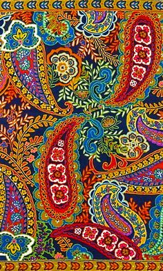 another paisley design Textiles, Textile Prints, Textile Patterns, Textile Design, Fabric Design, Print Patterns, Lino Prints, Block Prints, Surface Pattern