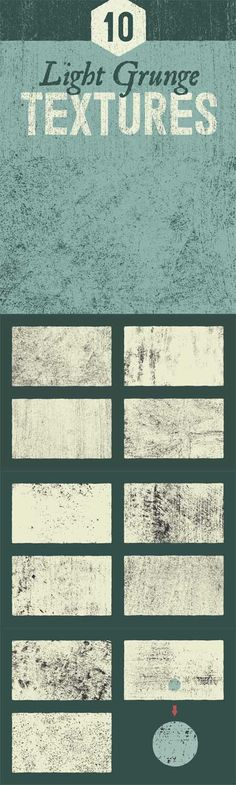Light Grunge Textures Vector Set