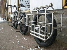 Hows this for a Cargo Bike?!? Perfect for those quick get aways #fatbike #bicycle #fat-bike