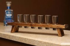 How To Have An Easy Woodworking Project When it comes to woodworking, there is a vast world to learn about. From types of wood to which tools are best, you will find that there is no end to your education. Shot Glass Holder, Shot Glass Set, Glass Holders, Wedding Gifts For Men, Liquor Dispenser, Small Wood Projects, Wall Bar, Easy Woodworking Projects, Wine And Beer