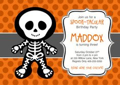Costume Party Invitation Halloween Birthday Party Invitation - Halloween birthday invitations party