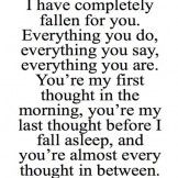 You're My Fist Thought in The Morning – Great Love Quote