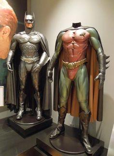 Batman Forever Val Kilmer Sonar Bat-suit and Chris O'Donnell Robin costume