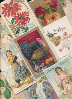 Antique  Mixed Lot of 25 Holidays & Greetings  Postcards-Vintage-a-519 #holidaypostcardlot