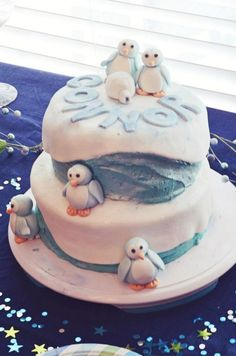 Penguin Baby Shower Specialty Cake