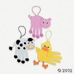 these gave me a couple of really cute ideas for some handprint art....orientaltrading.com