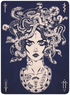 MEDUSA by PROZEET , via Behance -I've always wanted a tattoo on my thigh, I want a bad as lion tattoo. Until recently I've been thinking about how much I love snakes and then I came upon this wonderful picture! Absolutely in love with this and would love if this was on my thigh