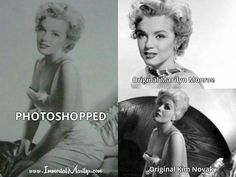 The internet is full of photoshopped pictures of Marilyn. How do you tell which are real and which are fake? And why are photoshopped pictures so harmful both to Marilyn's legacy and to her fans? Most Famous Quotes, Kim Novak, Fake Photo, Norma Jeane, Why People, Look Alike, More Photos, Marilyn Monroe, Picture Quotes