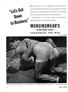 """Munsingwear's """"Stretchy-Seat"""" underwear for men, because you'll want to wrestle another man in your underwear."""