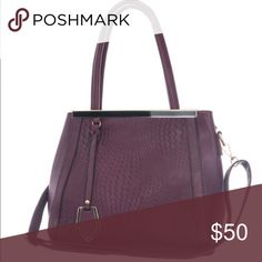 Deep plum bag Beautiful deep plum handbag. Crossbody attachment and shoulder strap. Has organizational pockets inside. Handbag parties Bags Shoulder Bags