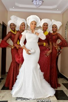 Nigerian Wedding Presents Tese's Fashionable Shoot With Her Bridesmaids | Klala Photography  -