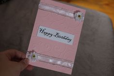 Pink tender birthday card.
