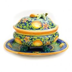 Lemon Soup Tureen, Biordi Art Imports