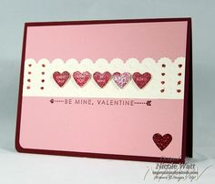 Pretty Valentine card