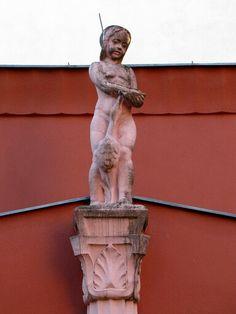 Hospital Gersthof Art And Architecture, Vienna, Statue, Red, Sculptures, Sculpture