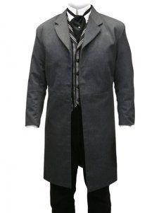 Cool Charcoal Gray Jazz Cloth Mens Long Coat