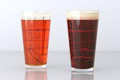 Tucson, AZ - University of Arizona - College Town Map Pint Glass Set