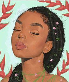 Image may contain: 1 person Black Girl Art, Black Women Art, Art Girl, Images Roi Lion, Drawings Of Black Girls, Fanart, Black Cartoon, Black Artwork, Painting Of Girl