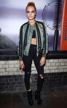 Cara Delevingne from The Big Picture: Today's Hot Pics  The model attends a a party in London celebrating her partnership with Rimmel.