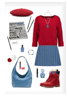 """""""Untitled #427"""" by lmello ❤ liked on Polyvore featuring New Look, Rebecca Minkoff, Michael Kors, Anne Klein, Kenneth Cole, Hunter, Timberland, Marc Jacobs, Isadora and Destined"""