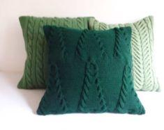 Custom Blue Diamond Knit Pillow Throw Pillow by Adorablewares
