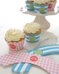 Personalized cupcake bands for baby showers, bridal showers or birthday parties