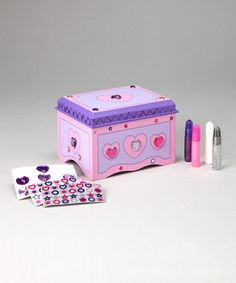 Decorate-your-own Jewelry Box Kit