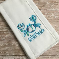 A personal favorite from my etsy shop httpsetsylisting crab burp cloth lilly pulitzer crab baby burp cloth personalized crab burp cloth maryland crab baby gift nautical baby shower gifts negle Choice Image