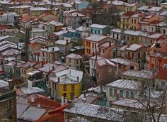 Snow in Agiassos, Lesvos