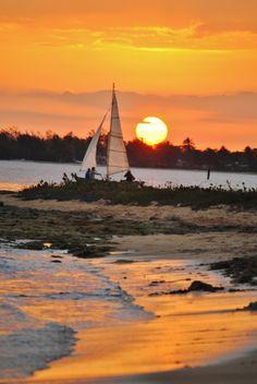 Caribbean Sea - Playa Larga - Beautiful sunset in Cuba