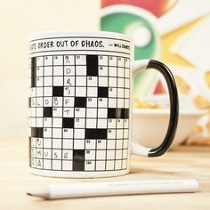 Crossword Puzzle Mug: Item number: 3574879603 Currency: GBP Price: T 62, Presents For Mum, Typography Love, Word Puzzles, Funny Mugs, Crossword, Coffee Cups, Tea Pots, Best Gifts